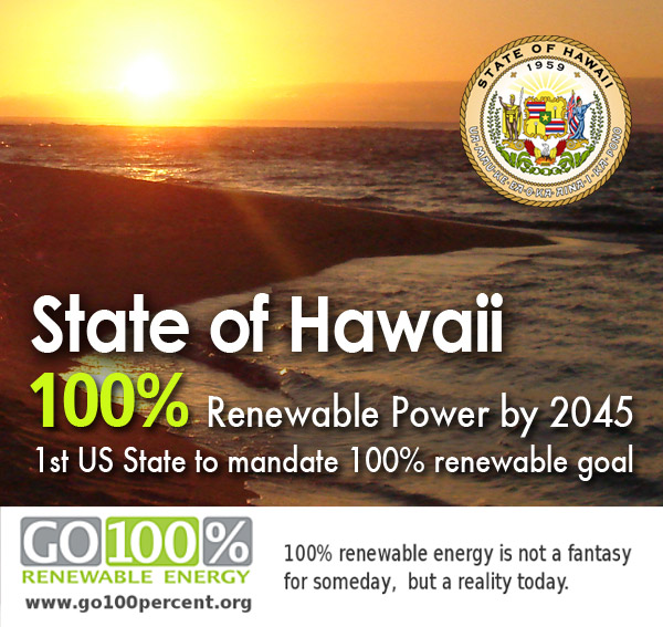 Hawaii First in the Nation to Set 100% Renewable Energy Goal