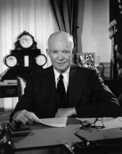 President Dwight D. (Ike) Eisenhower in the Oval Office