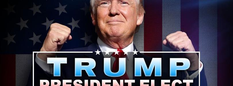 United States 2016 election. Image of President-elect Donald Trump.