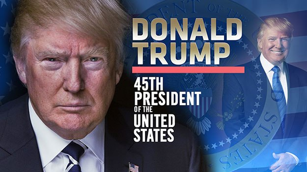 President Donald Trump, 45th President of the United States.