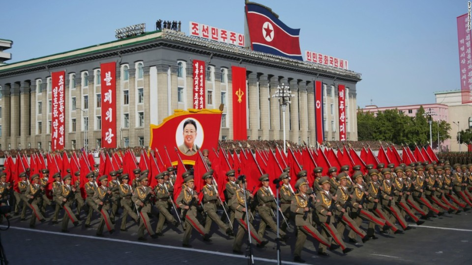 North Korea military parade. Image courtesy of CNN com
